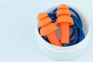 earplugs on string