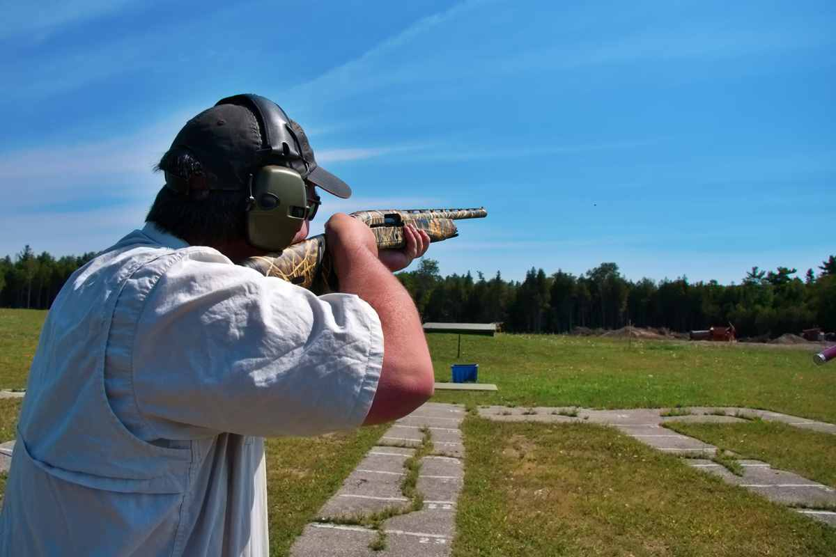 man shotgun ear protection0