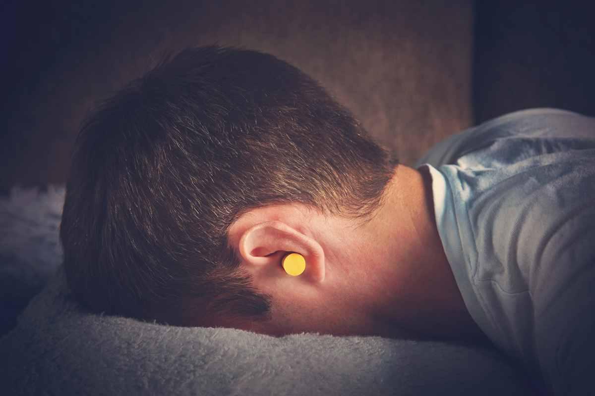 sleep on face ear plugs